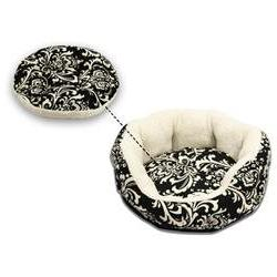 Cuddler Duchess Bolster Dog Bed, Small , Black