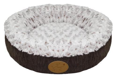 curl plush doughnut bed