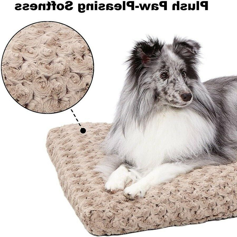 MidWest Deluxe Super Plush Pet Beds,48-Inch,Mocha