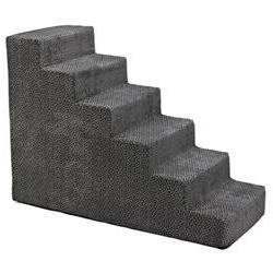 Designer 6 Step Pet Stair, Pewter Bones