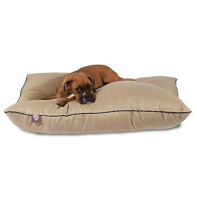 """Majestic Pet Products Dog Bed size: 35""""L x 46""""W x 7""""H, Green"""