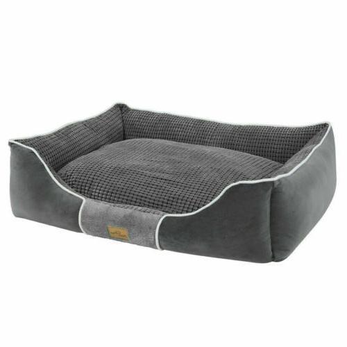 Dog Bolster Large Medium House Waterproof Soft Warm Beds