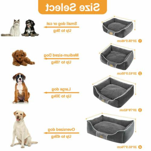 Dog Bolster Large Pet Cushion House Waterproof Beds