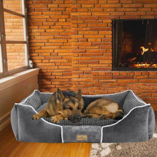 Dog Bed Bolster Large Medium Pet House Warm Beds