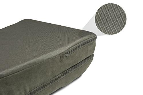 | Fur & Suede Chaise for Dark Sage, Large