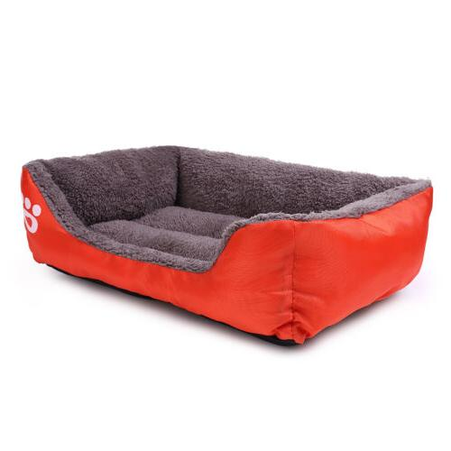 Medium Small Cat Puppy Bed House Soft Warm