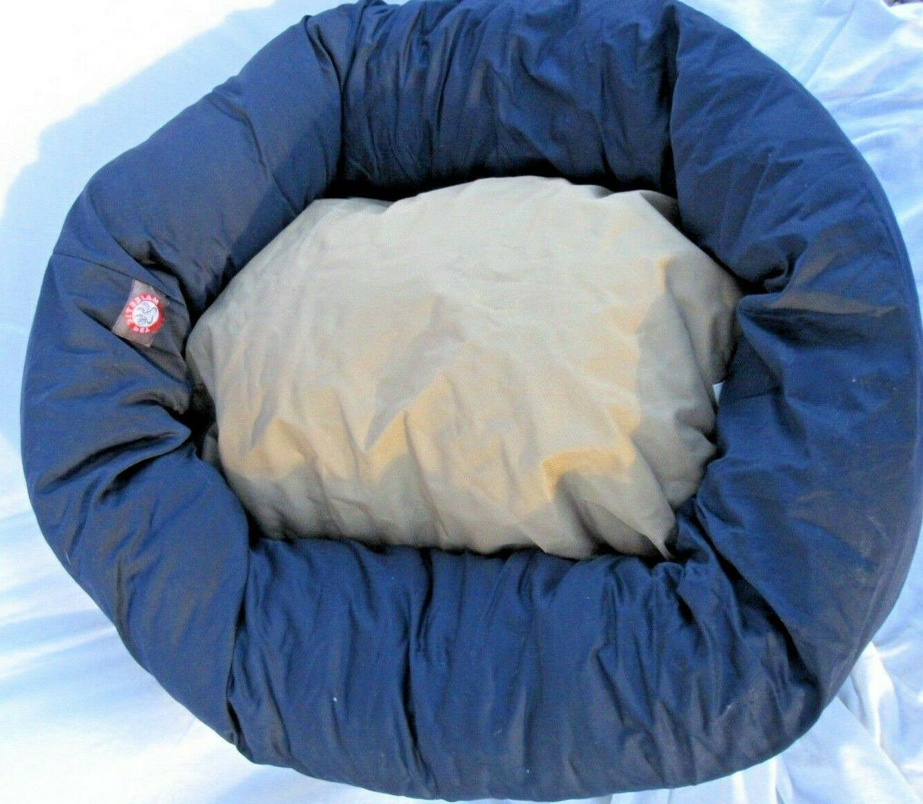 dog bed lofty strong donuts shape blue