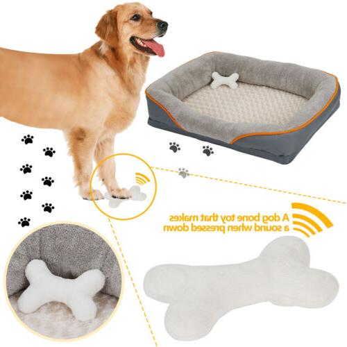 Dog Foam Pet Bed Washable Cover and Toy