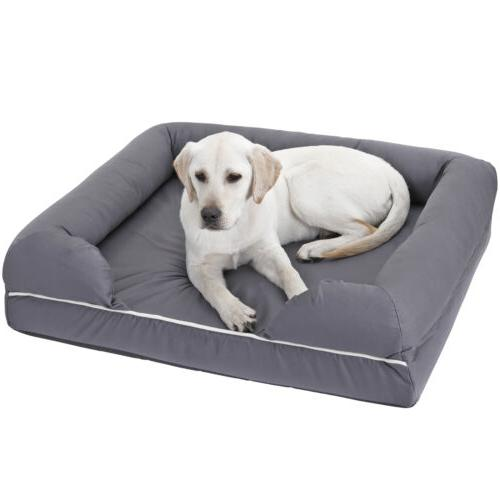 Dog Bed Memory Foam Waterproof Liner Breathable Skin Contact