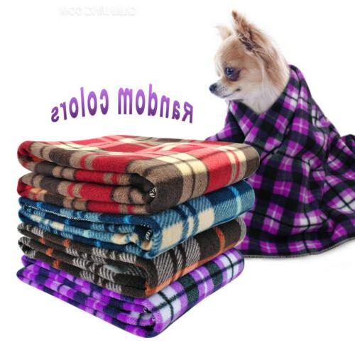 Small Throw Blankets for Dogs Fleece Bed Car Couch Cover Pup
