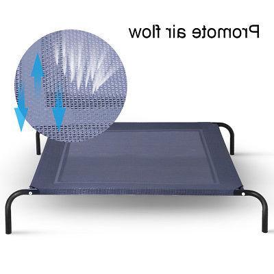 New Large Dog Bed Elevated Indoor Steel Frame Mat