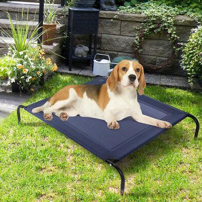 New Bed Pet Cot Indoor Outdoor Steel Frame Mat