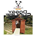 DOGGYSHOUSE Large Outdoor Dog House & Grooming Bath Built-In