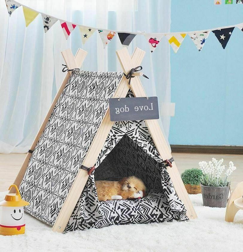 Dog House Tent Foldable Soft Comfortable Fabric Outdoor Trav