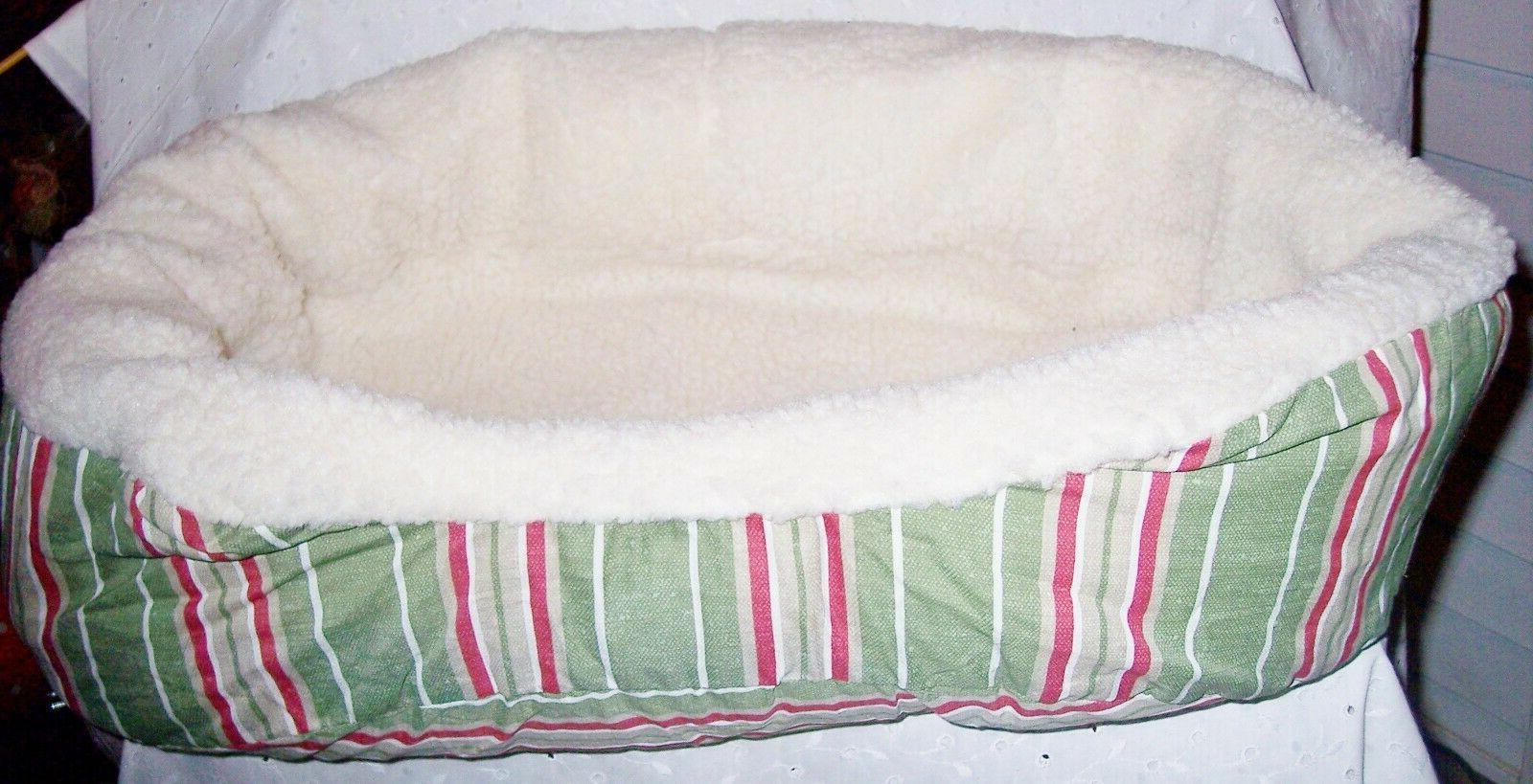 DOG NESTING BED COZY BY FILL:STRIPPED OR KHAKI U COLOR