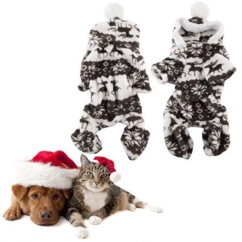 Dog Pet Winter Warm Coat Puppy Clothing Coffee Plush Cap Bal