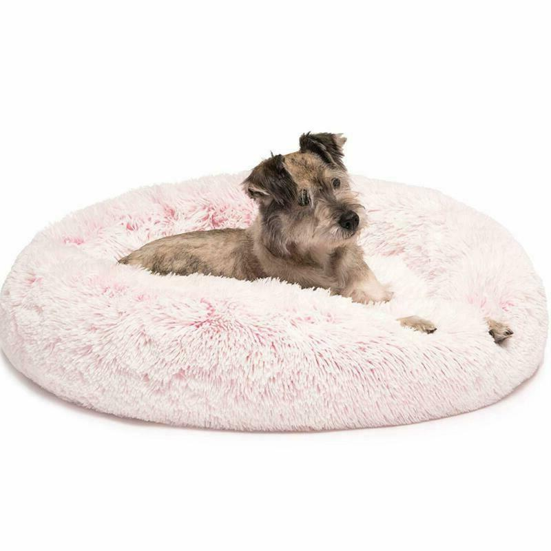 Donut Cat Bed Faux Dog Beds For Medium Small Dogs Self Warmi