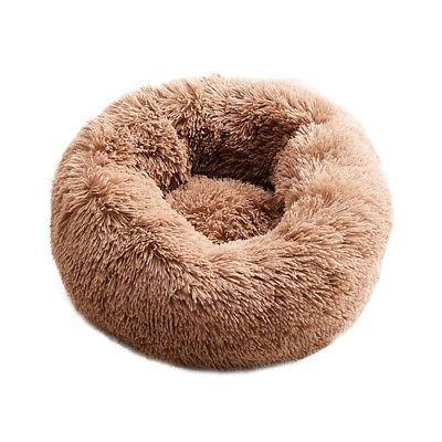 Donut Dog Cat Bed Plush Soft Warm
