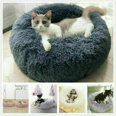 Cat Bed Soft Warm Calming Bed Kennel Nest