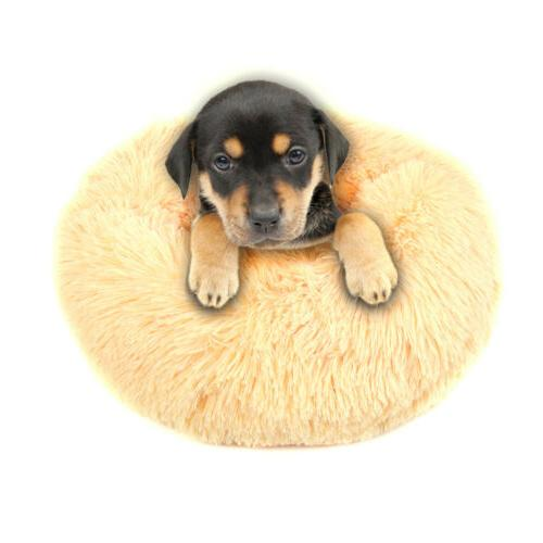 Donut Pet Calming Sleeping Warm Round Nest