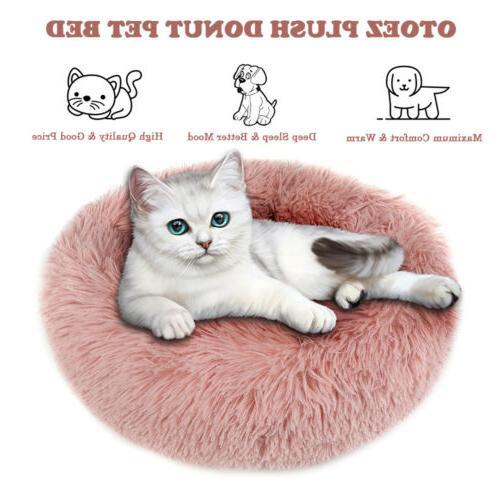 Donut Plush Puppy Mat Nest Soft