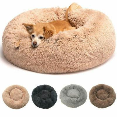 Donut Cat Dog Puppy Calming Sleeping Bed Mat Soft Flufy