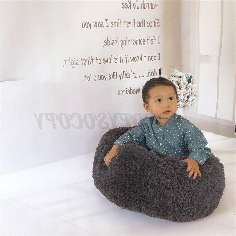 Donut Plush Cat Bed Warm Kennel US