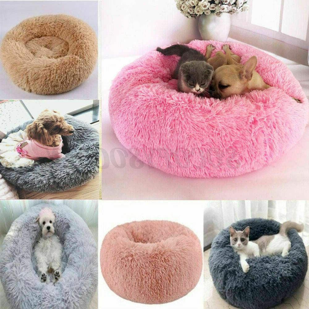 Donut Pet Cat Bed Fluffy Warm Bed