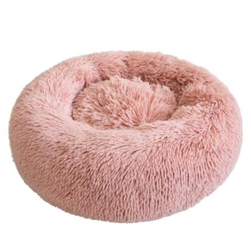 Donut Plush Pet Cat Bed Warm Calming Kennel Nest