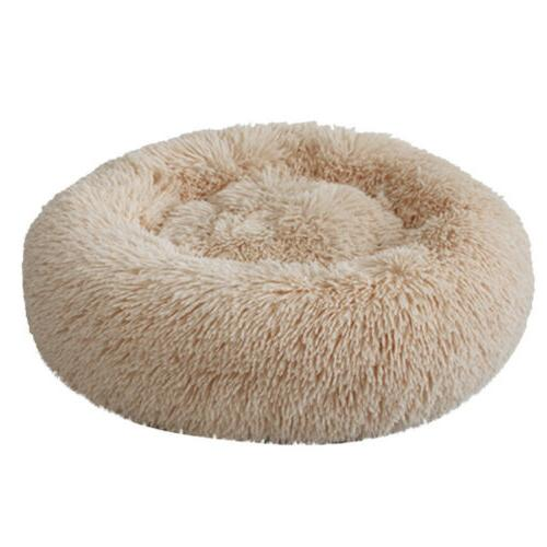 Donut Cat Fluffy Warm Calming Bed Kennel Nest