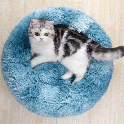 Pet Plush Bed Fluffy Soft Warm Bed Kennel