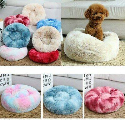 pet dog cat donut plush bed fluffy