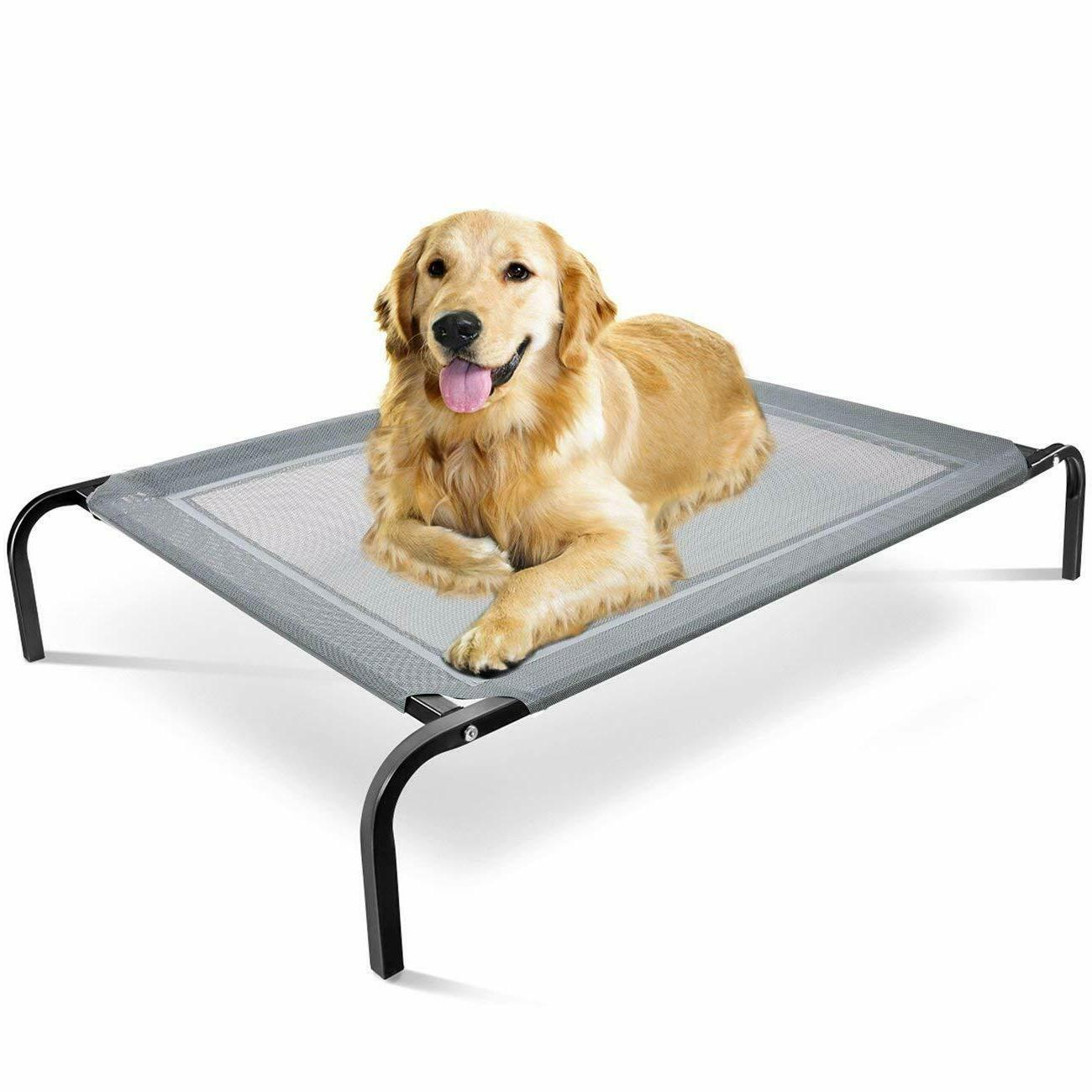 Elevated Dog Bed Lounger Sleep Pet Cat Raised Cot Hammock fo