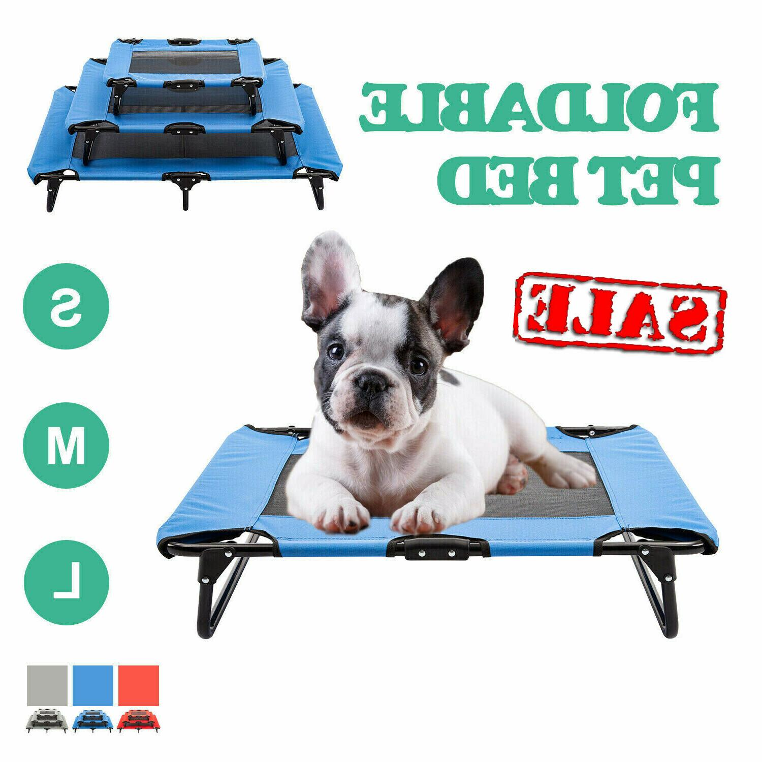 elevated dog cat bed cooling pet cot