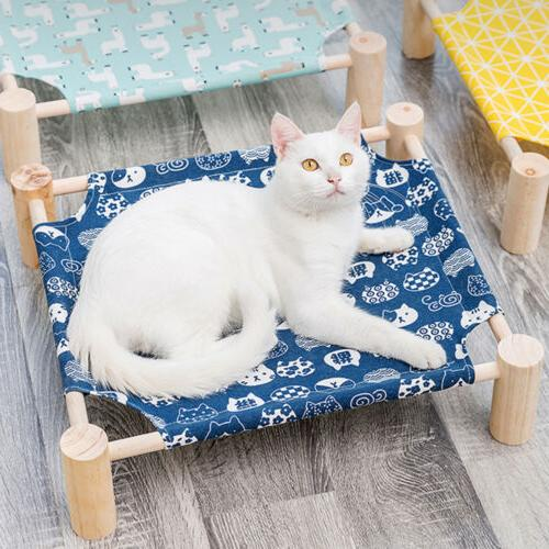 Durable Pet Dog Lounge Canvas Cot Removable
