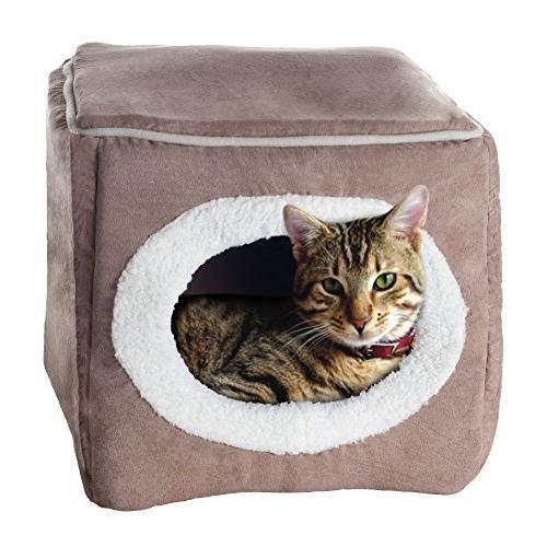 enclosed cube pet bed