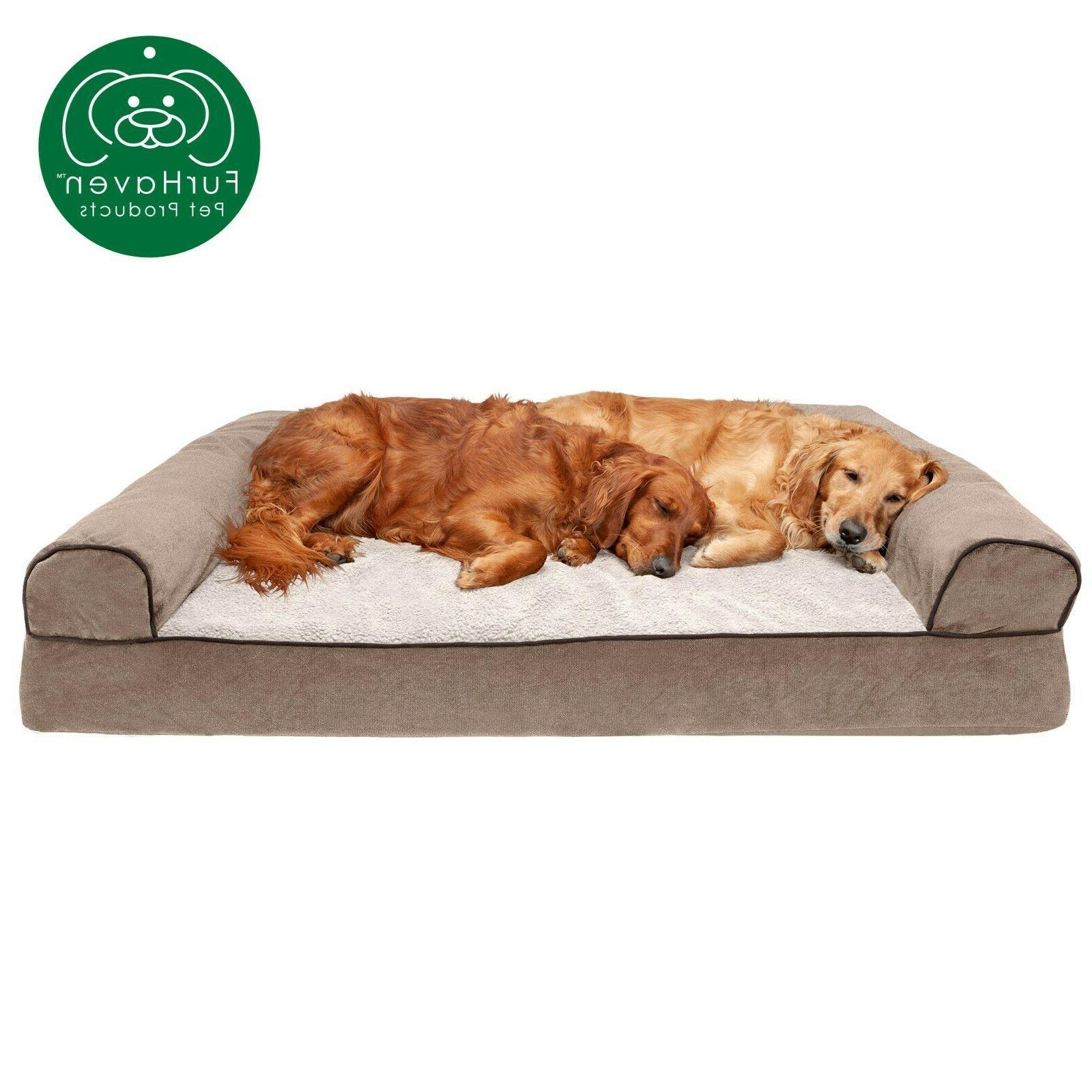 FurHaven Pet Memory Woven Sofa Bed