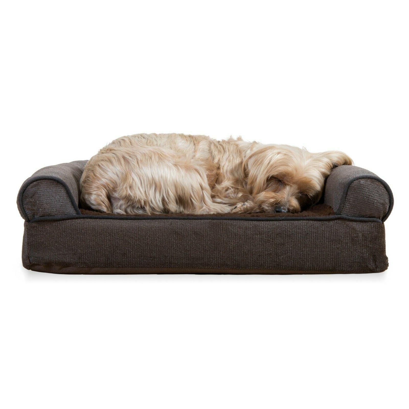 FurHaven Pet & Chenille Sofa Dog Bed