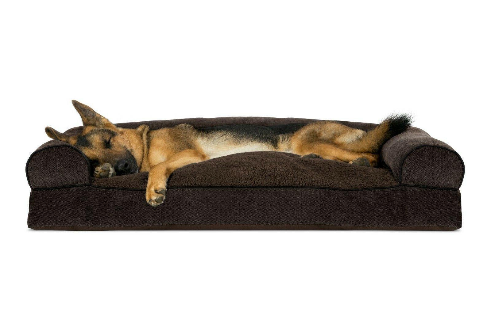 FurHaven Pet Fleece & Chenille Pillow Dog