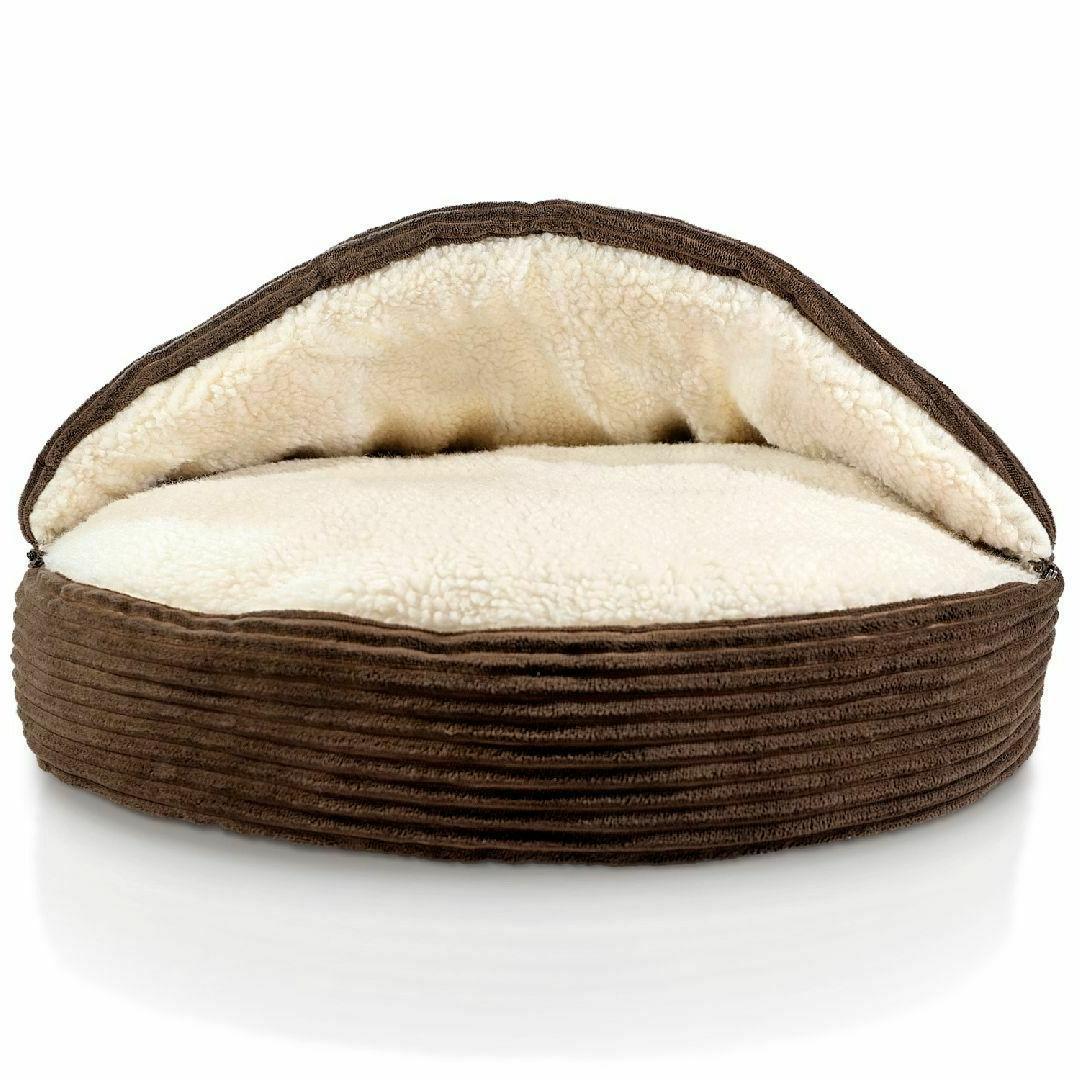 fleecy pet cave round soft bed