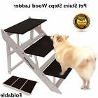 Folding Dog Stairs Puppy Cat Pet Steps Portable Tall High Be