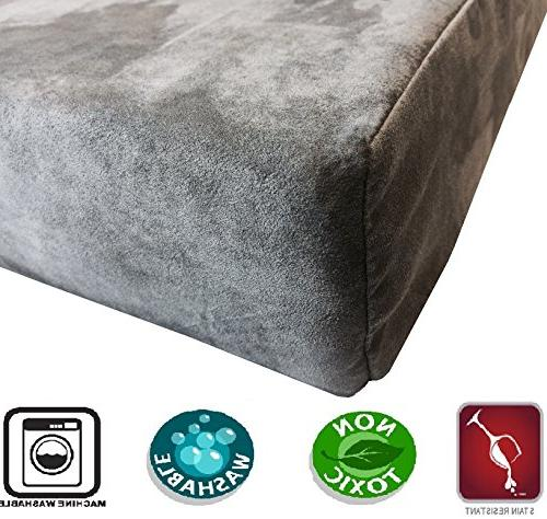 Dogbed4less Rest Orthopedic Gel Cooling Memory Pet Bed, Internal and Washable Cover Gray