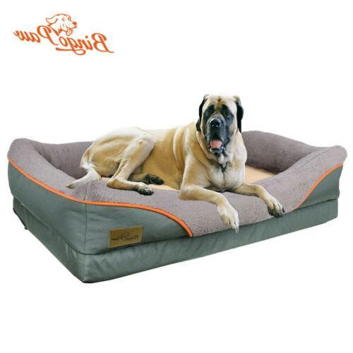 heavy duty large orthopedic pet bed soft