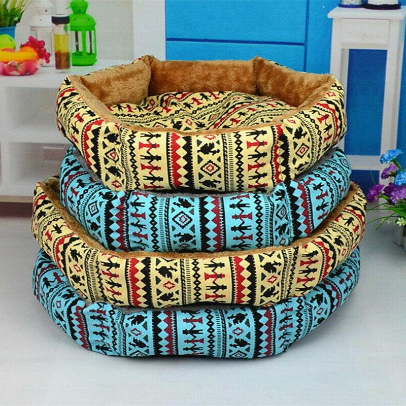 hexagonal two sides plush cat dog beds