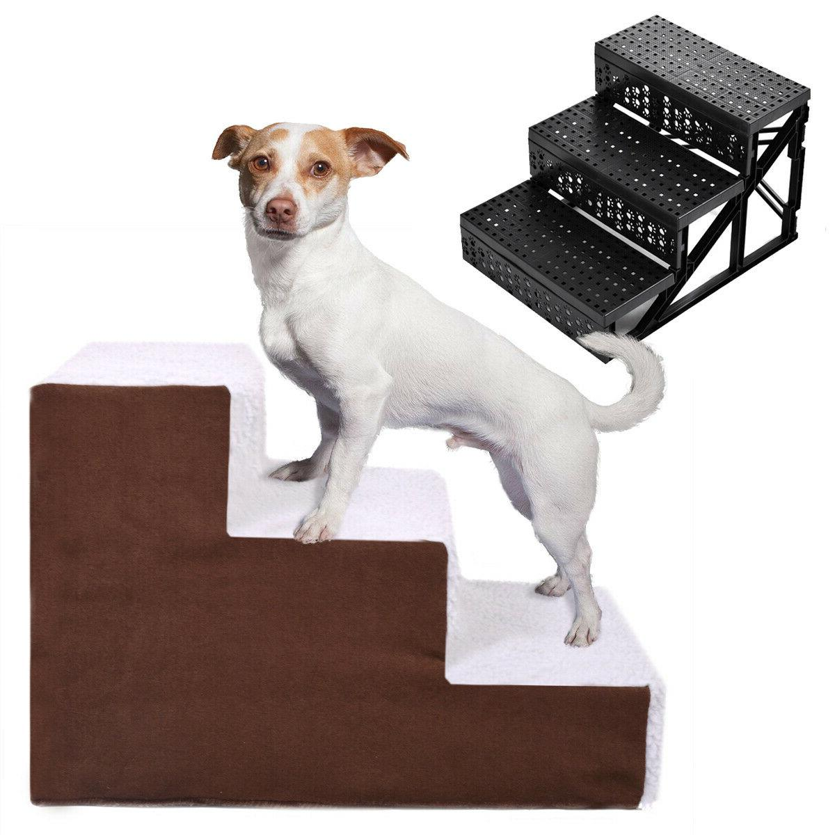 Pet Stairs, 3 Non-slip Steps Dog Cat Puppy Ladder for High B