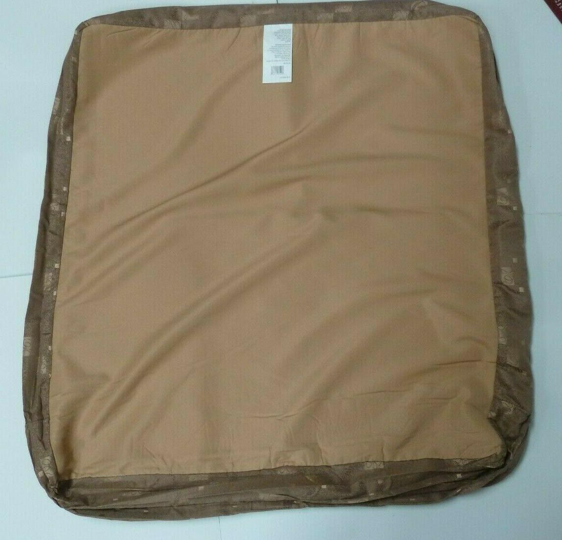 KIRKLAND Durable Fabric Zipper Cover Large Brown
