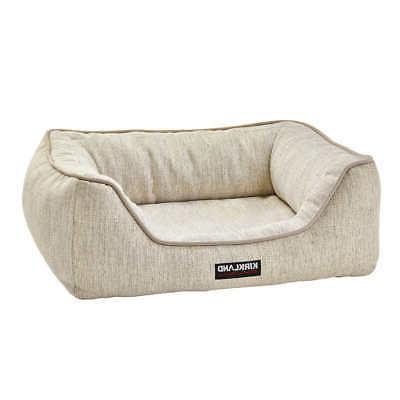 """Kirkland 21""""X25"""" Cuddler Dog Bed, Beige"""