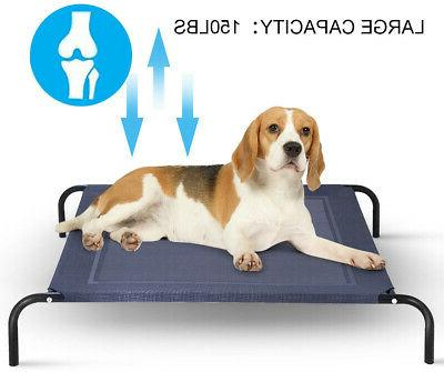 Large Elevated Pet Cot Outdoor Mat Sized