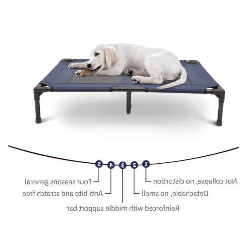 Large Dog Cat Elevated Raised Pet Indoor Frame Mat