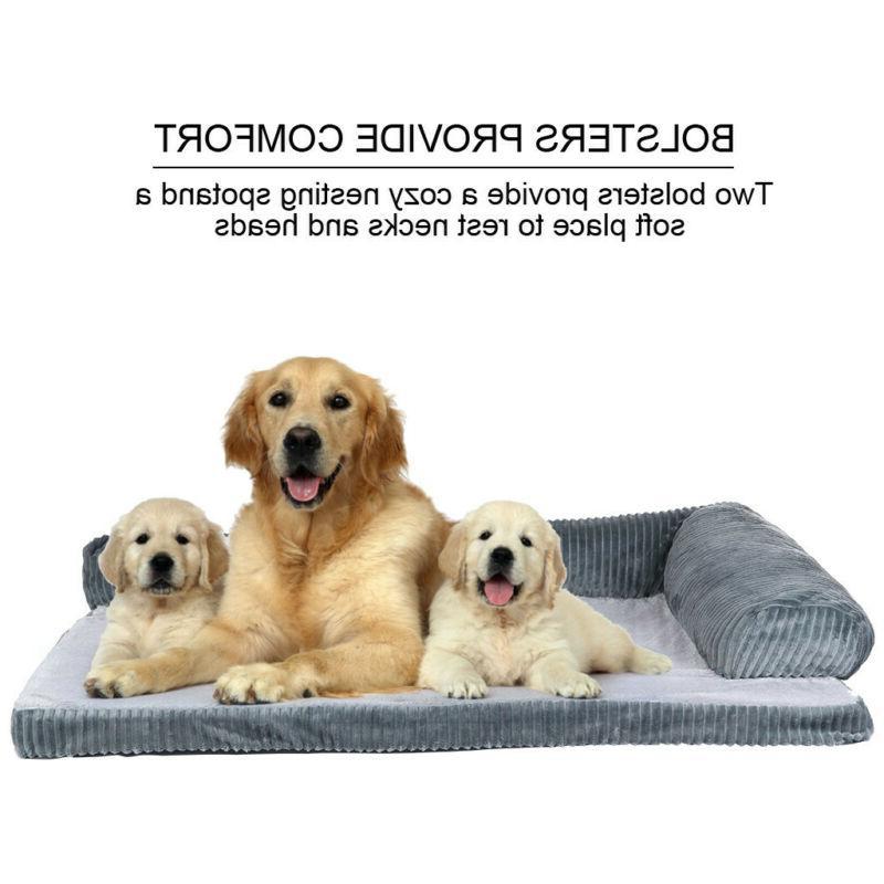 Large Bed Dog Cushion Pillow Washable Soft Winter Warm Sofa